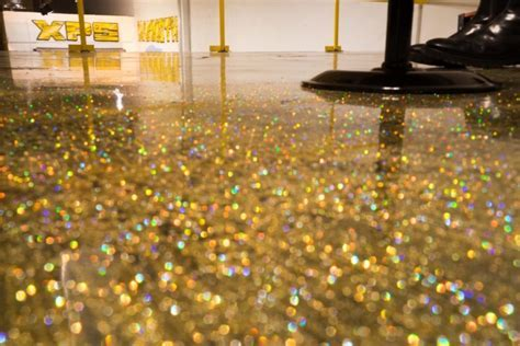 DIY Metallic Epoxy Floor Application Gold Glitter Metallic