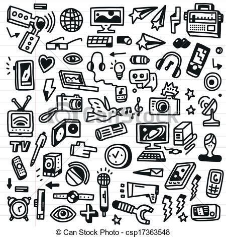 medien satz masse doodles