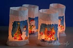 Basteln Mit Papiertüten : bastelidee weihnachtliche teelichter im glas mit motiv t te ~ A.2002-acura-tl-radio.info Haus und Dekorationen