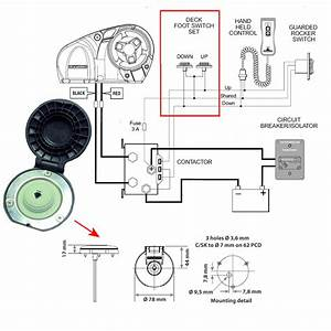 Anchor Windlass Foot Switch  Remote Control And Relay  On