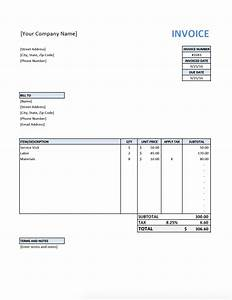 Free invoice template for contractors for Free invoice template my invoice