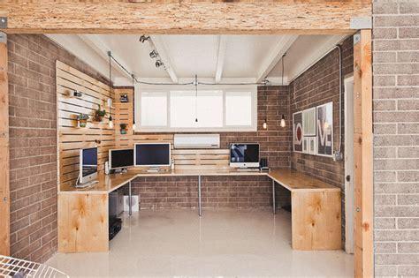 hipster work studio industrial home office orange