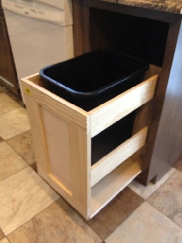 ana white kitchen trash pull  cabinet diy projects