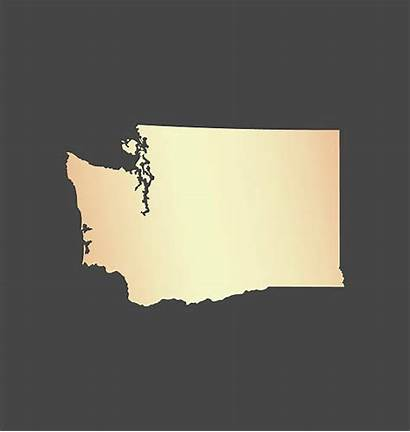 Washington Outline State Vector Clip Map Background