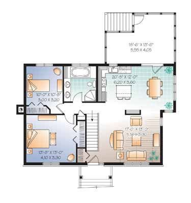 Colonial Style House Plan 4 Beds 2 Baths 2226 Sq/Ft Plan