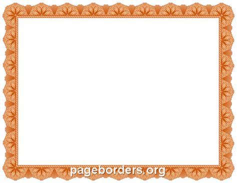 orange certificate border clip art page border