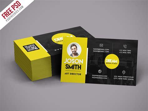 creative design studio business card template psd