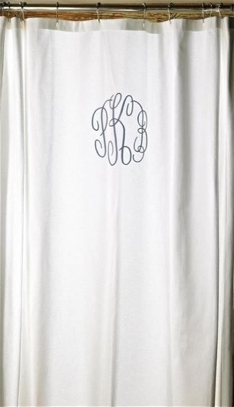 monogrammed shower curtain monogrammed shower curtain traditional shower curtains by rosenberry rooms