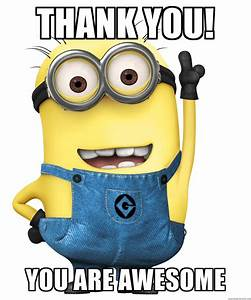 Thank you! You are Awesome - Despicable Me Minion | Meme ...