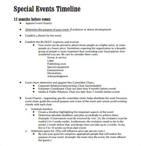 event timeline samples   word