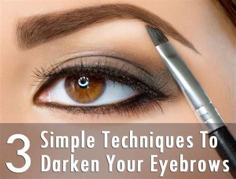 simple techniques  darken  eyebrows eyebrows simple  tips