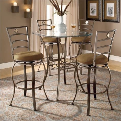 Hillsdale Brookside 5 Pc Bar Height Bistro Table Wmarin