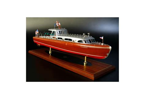 hacker craft  thunderbird classic speed boat model