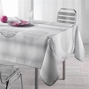 Nappe De Table Rectangulaire : nappe rectangulaire l240 cm kosmo gris nappe de table eminza ~ Teatrodelosmanantiales.com Idées de Décoration