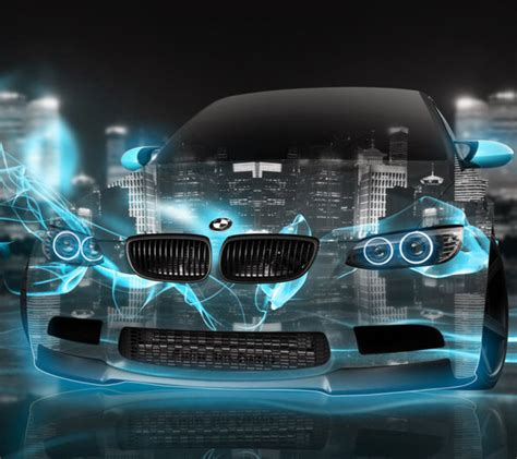 Download Bmw Blue Neon 1440 X 1280 Wallpapers
