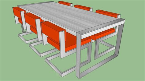 sketchup components  warehouse dining table  chairs