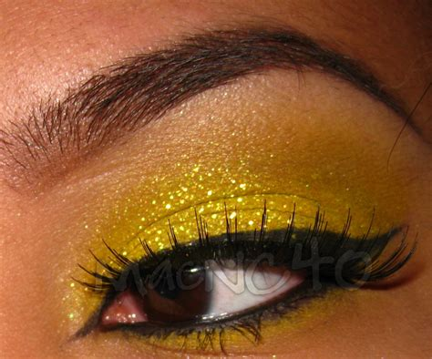 beauty indulgence mac glitter crystalled yellow