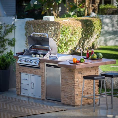 outdoor kitchen island with sink bull outdoor products bbq island with 4 burner angus gas
