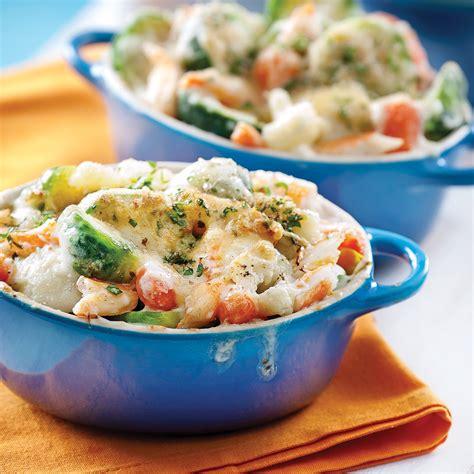 recette cuisine legumes gratin de légumes au crabe recettes cuisine et