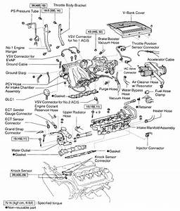 Where Are The Knock Sensors Located On A 99 Lexus Es300  Where Is The Harness That You Should