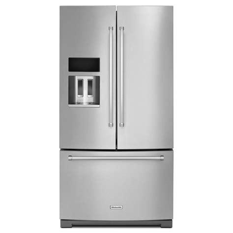 Kitchenaid Fridge Maker Troubleshoot by Kitchenaid 26 8 Cubic Ft Stainless Steel Bottom Freezer