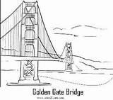 Gate Coloring Golden Designlooter Bridge Sketch Template sketch template