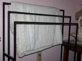 wrought iron quilt rack hollywood
