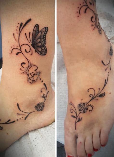 tatouage cheville papillon modeles  exemples