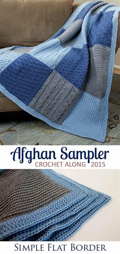 Crochet Blanket Afghan Border Patterns Blankets Sampler