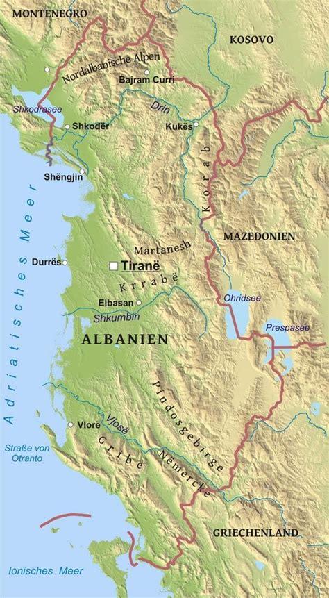 Karte von Albanien - Freeworldmaps.net