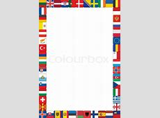 Frame made of European countries flags vector illustration