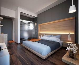 Tete De Lit En Bois : chambre de luxe de design moderne ~ Teatrodelosmanantiales.com Idées de Décoration