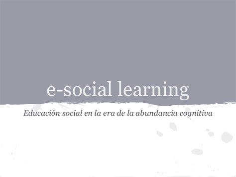 si e social de e social learning