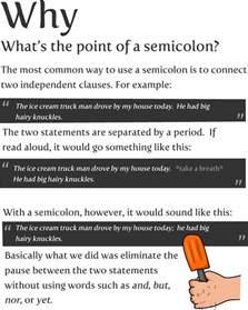 Use Of Semicolon In Resume by Jovialjones