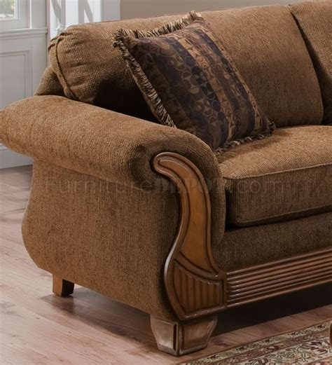 Chocolate Loveseat by Chocolate Fabric Traditional Sofa Loveseat Set W Throw