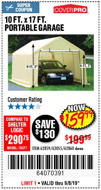 lowest prices   year   canopies  portable sheds harbor freight coupons