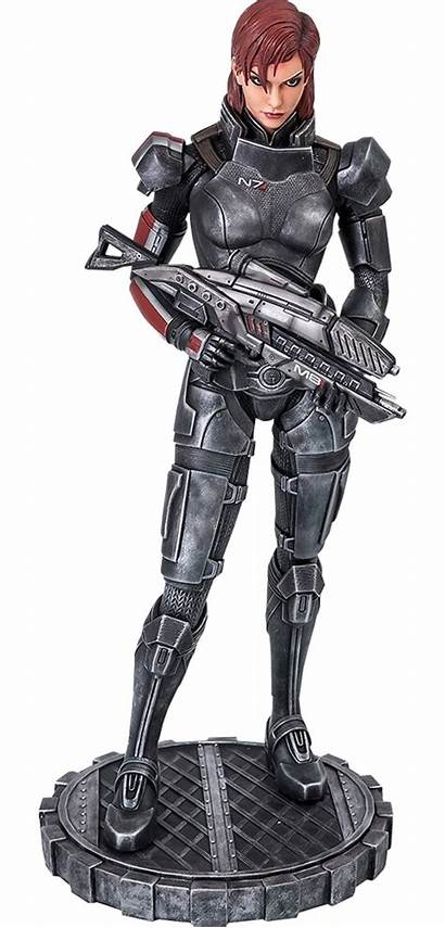 Femshep Mass Effect Gaming Statue Heads Collectibles