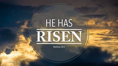 Risen He Christ Wallpapers Jesus Backgrounds Church