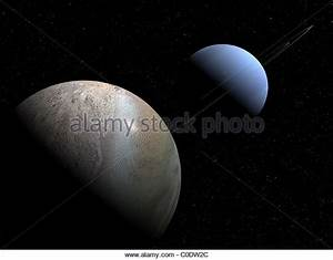 Illustration of the gas giant planet Neptune and its ...
