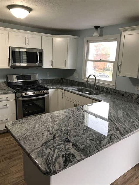 silver cloud granite kitchen   pinterest