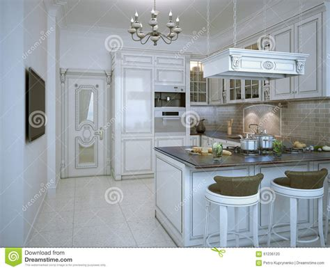 glossy kitchen deco style stock illustration image