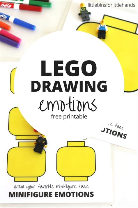 lego minifigure drawing emotions activity  kids