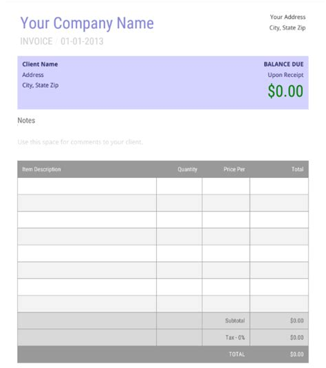 Receipt Template Doc - Collection - Letter Templates