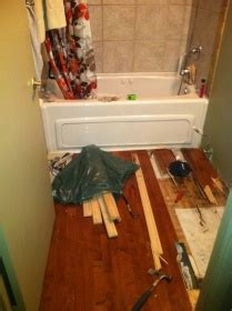 Subfloor systems eliminate the cake layer approach installing tile in a manufactured home. Removing Rotten Bathroom Subfloor - Flooring - DIY ...
