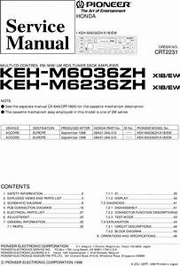 Pioneer Keh-m6036 Zh Keh-m6236 Service Manual