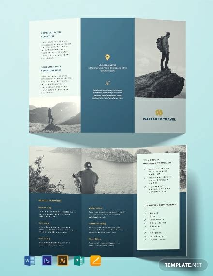 travel brochure template   brochures