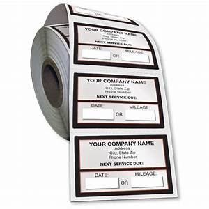 premium check registers jumbo adhesive service sticker on a roll next service due