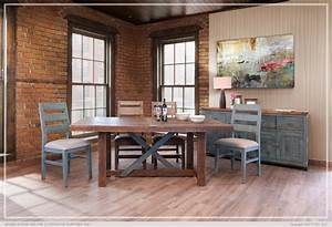 Antique teal dinning rectangular table collection for Woodloft furniture