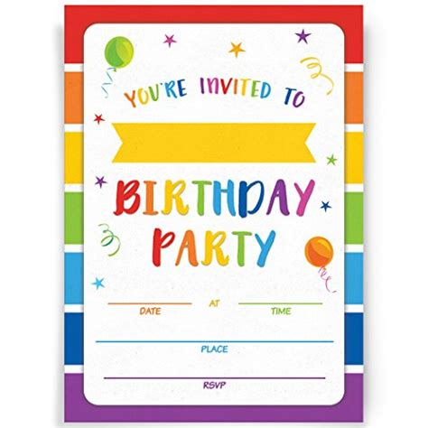 birthday party invitations cards   envelopes