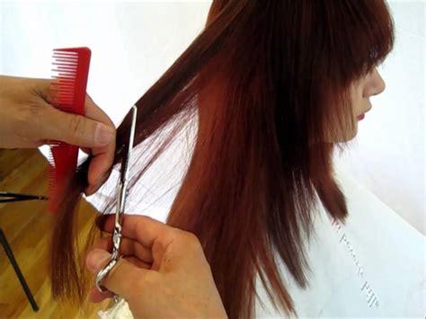 cut hair long hair cut   step  step
